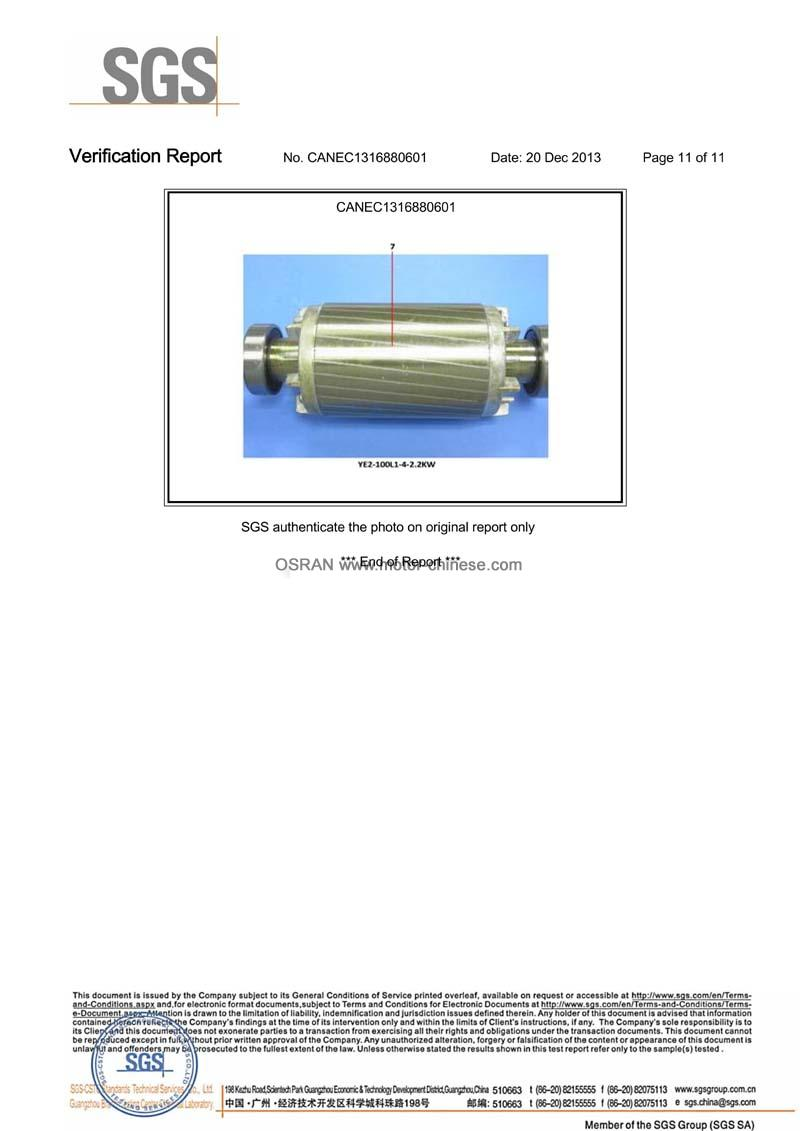 ROHS test Report of ac motor